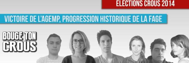 Elections CROUS 2014 : Victoire de l'AGEMP, progression historique de la FAGE