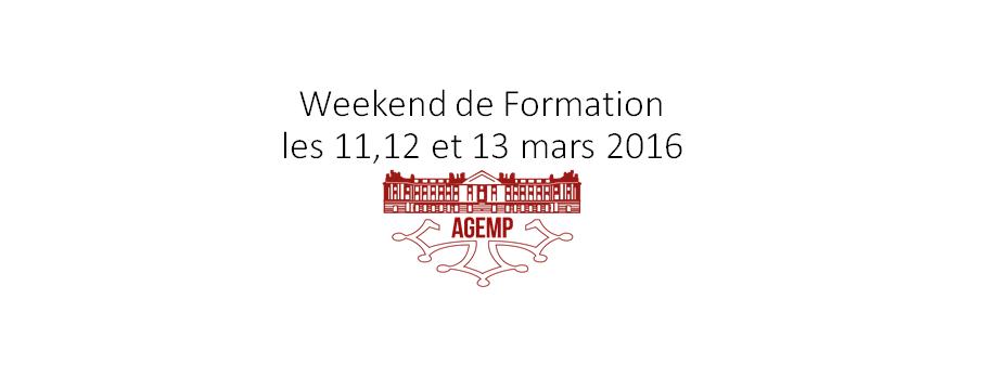 Weekend de formation les 11,12 et 13 mars 2016